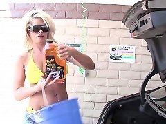 A Milf Meets A Guy At A Carwash Goes Home With Him And Fucks Him