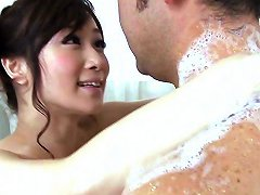 Cocksucking MILF Oiled Up And Tugging Dick