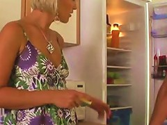 Greedy For Cum Dessert Housewife Gives Great Blowjob In The Kitchen