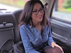 Amazing Brunette Lady Goes Anal Sex In The Cab And Faci Porn Videos