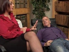 Horny Therapist Emma Butt Decides To Fuck With Her Handsome Client