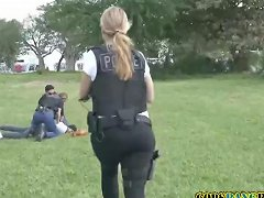 Latino Crook Is Caught Stealing Purses By Perverted Milf Cops