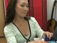 Mature Woman Giving Blowjob On Her Knees For Young Guy Cum To Mouth Spittin