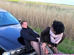 German Mature Hitchhiker Rough Outdoor At The Car Creampie Nuvid