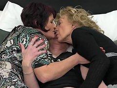 Old Grandmas At Crazy Lick And Fuck Lesbo Action