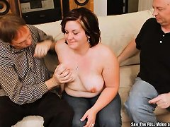 Chubby Brunette Wife Threesome Fuck Nuvid