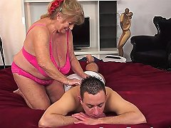 Chubby Euro Granny Titfucked After Doggystyle
