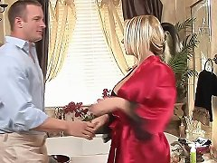 Curvy Blonde Sucks Dick