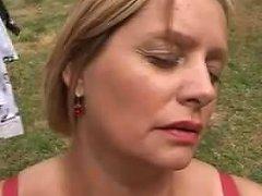 Busty Czech Housewife Masturbates In The Garden