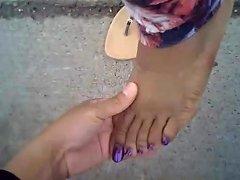 Evonna Cammon Purple Toes